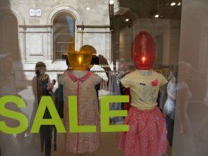 витрина магазина женской одежды в Вене